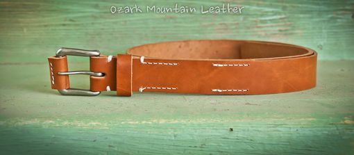 Custom Made Rugged Leather Belt
