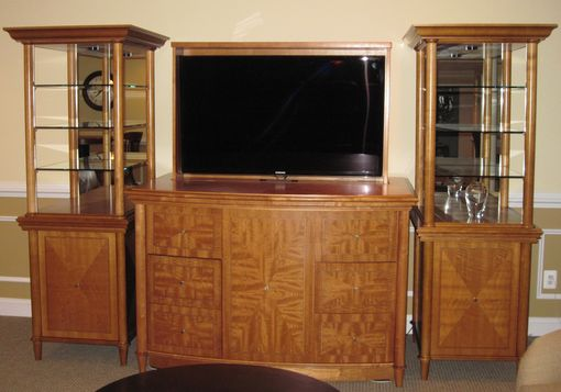 Custom Made Entertainment Center Tower Project