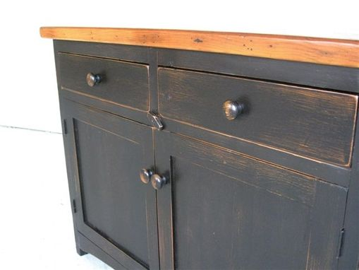 Custom Made 2 Door Antique Style Server With Black Base