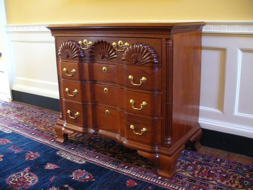 Custom Made Newport Block & Shell Chest Of Drawers
