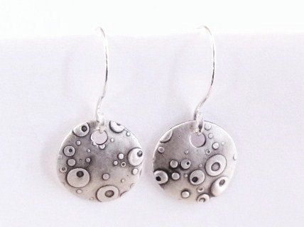 Custom Made Circular Textured Earring On French Ear Wires
