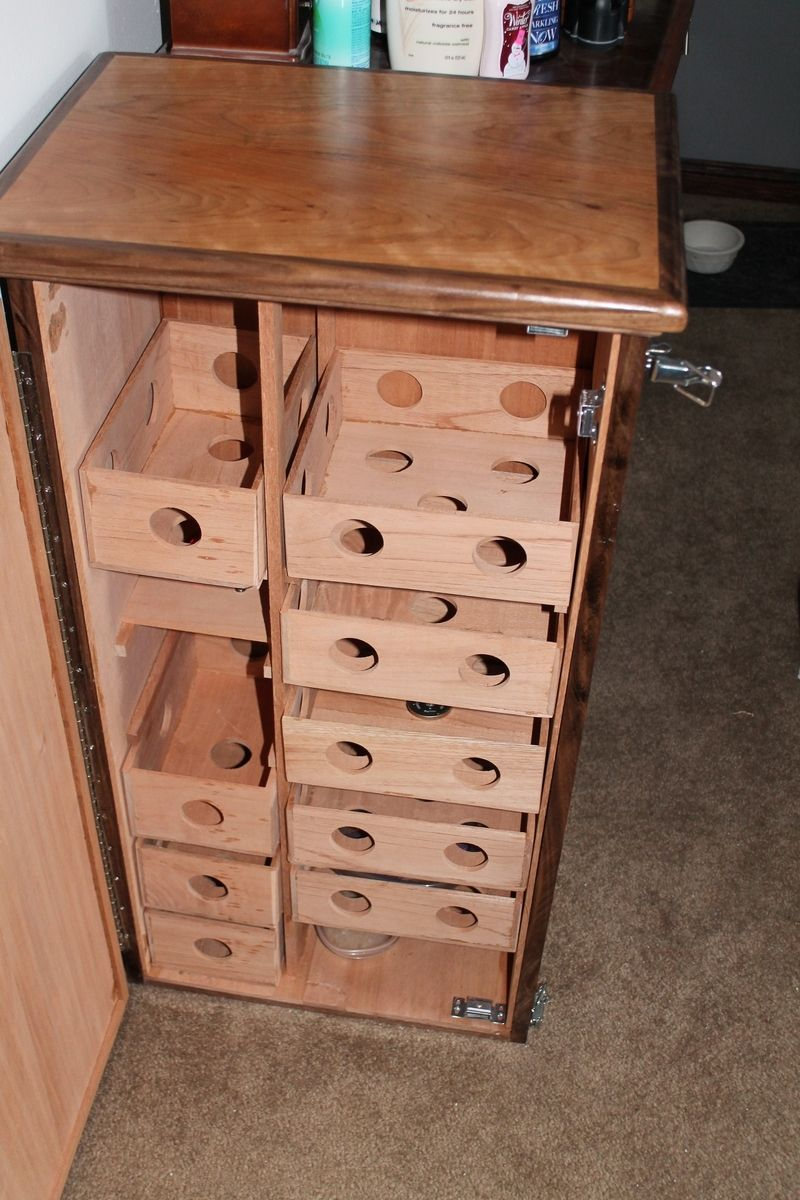 Custom Large Cabinet Humidor - Cherry / Walnut / Spanish Cedar by ...