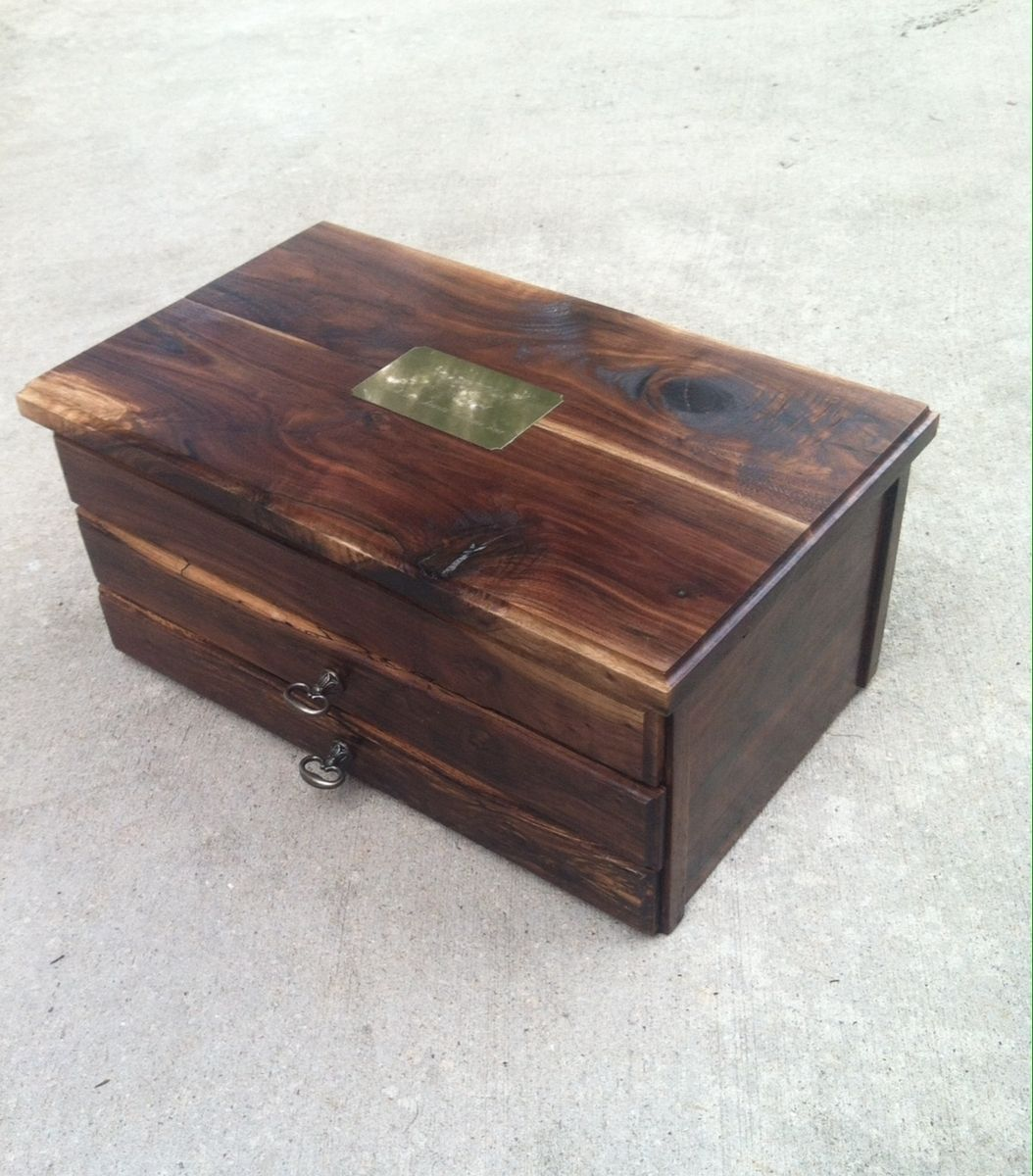 Custom black walnut jewelry box by bc creative designs for Custom made ring box