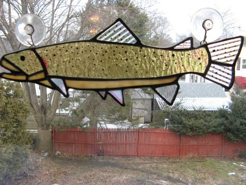 Custom Made Iridescent Stained Glass Cutthroat Trout