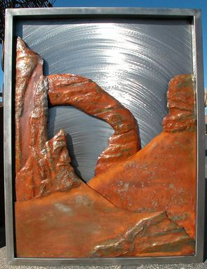 Custom Made Arches Relief, Fabricated Metal Sculpture