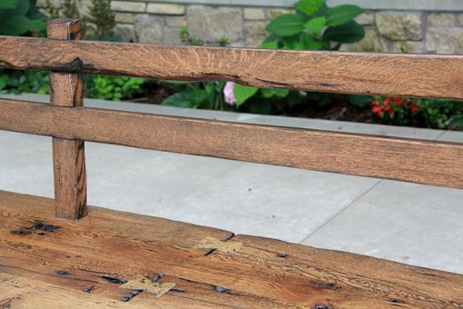 Custom Made Live Edge Barnwood Bench With Back Rest - 15' Long