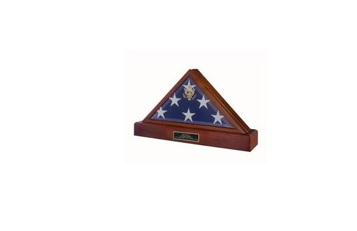 Custom Made Triangle Flag Display Case - Memorial Flag Case
