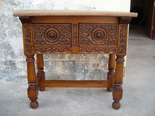 "Custom Made Carved ""Renaissance"" Table"