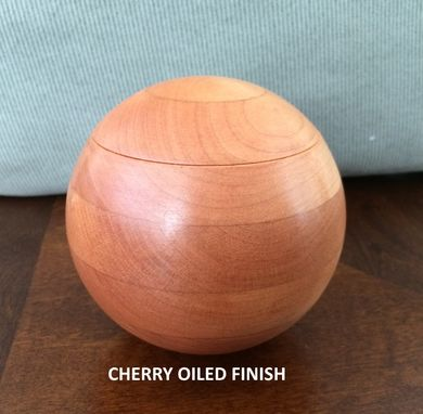 Custom Made Keepsake Box, Cherry, Spherical, 4 Inch
