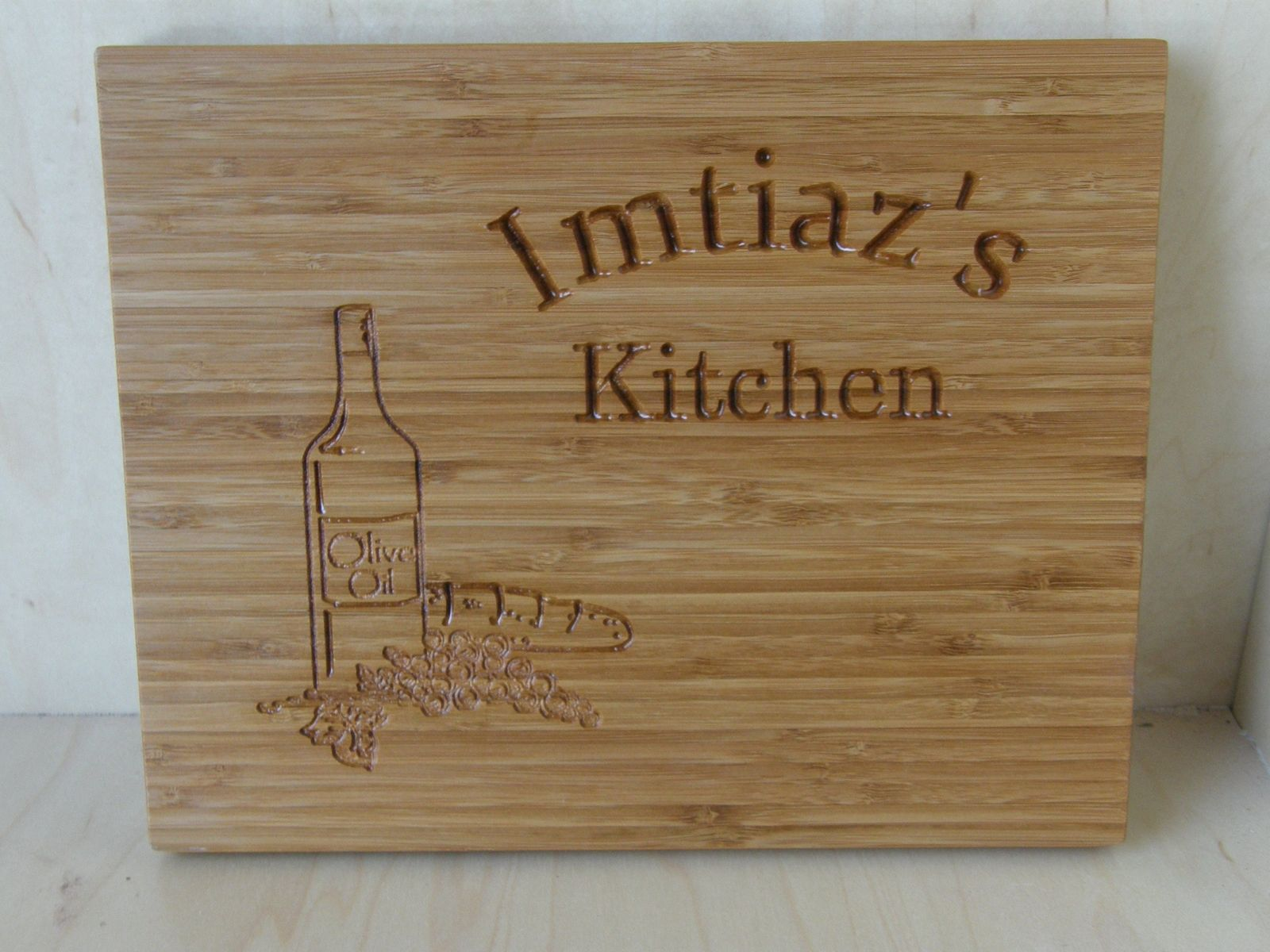 Personalized Bamboo Cutting Board Engraved Bamboo Cutting Board Custom Bamboo Cutting Board Home Living Kitchen Dining