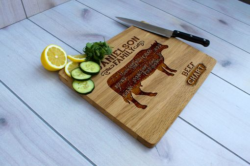 Custom Made Personalized Cutting Board, Cutting Board, Wedding Gift – Cb-Wo-Danielson Family Beef Chart