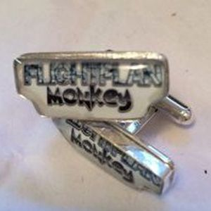 Custom Made Flight Plan Monkey Cufflinks