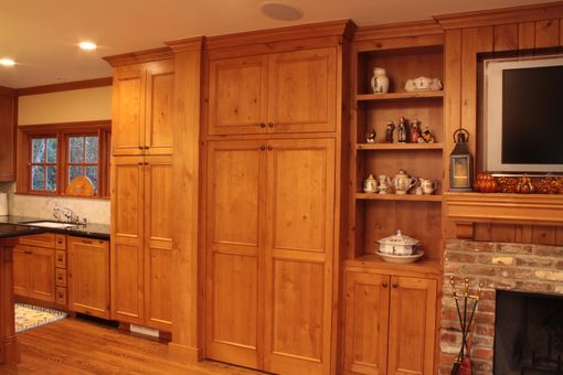 Hand Made Knotty Pine Kitchen And Entertainment Center By