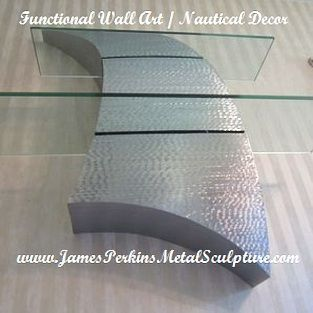 Custom Made Curves Decor / Metal Wall Art / Metal Sculpture / Nautical Home Decor