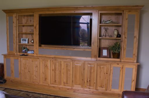 Custom Made 13 Foot Custom Alder Av Cabinet