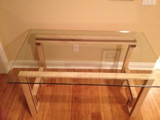 Custom Made Glass Top Desk