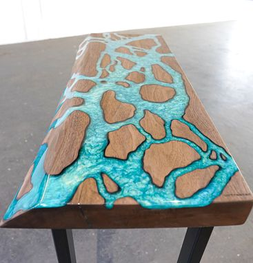 Custom Made Fractal River End Table