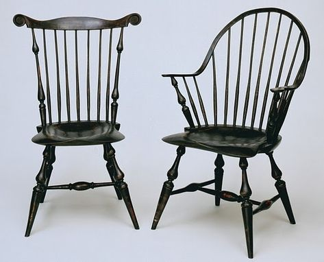 Custom Made Antiqued Windsor Chairs