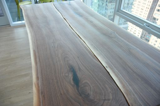 Custom Made Reverse Book Matched Live Edge Dining Table