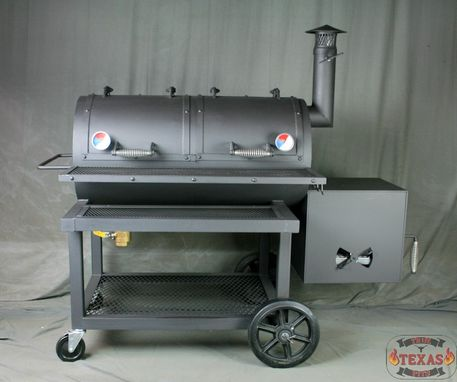 Custom Made Reverse Flow Smoker - Heavy Duty Smoker - Texas Bbq Smoker - Barbecue Smoker