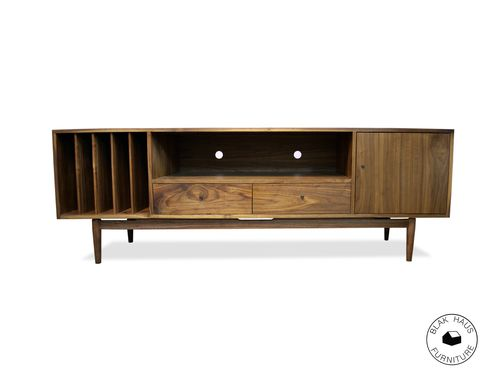 Custom Made Mid Century Media Cabinet
