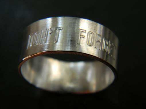 Custom Made Ring With Outside And Inside Engraving