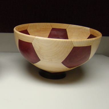 Custom Made Segmented Wooden Soccer Bowl