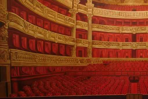 Custom Made Paris Opera House Mural By Visionary Mural Co.