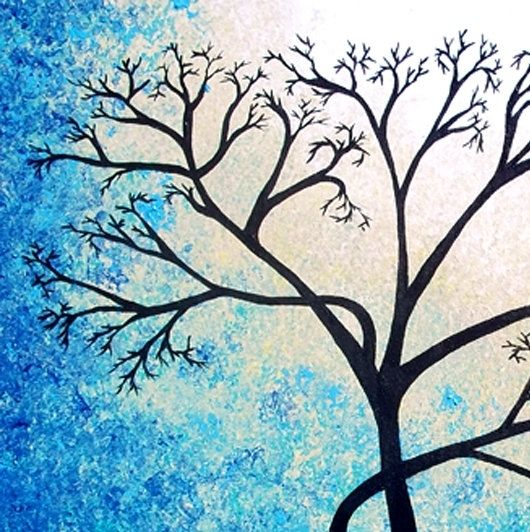 Buy A Hand Made Original Abstract Tree Painting Textured