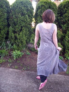 Custom Made Lovely Lace Dress In Shades Of Lavender