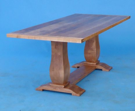 Custom Made Double Pedestal Country Table