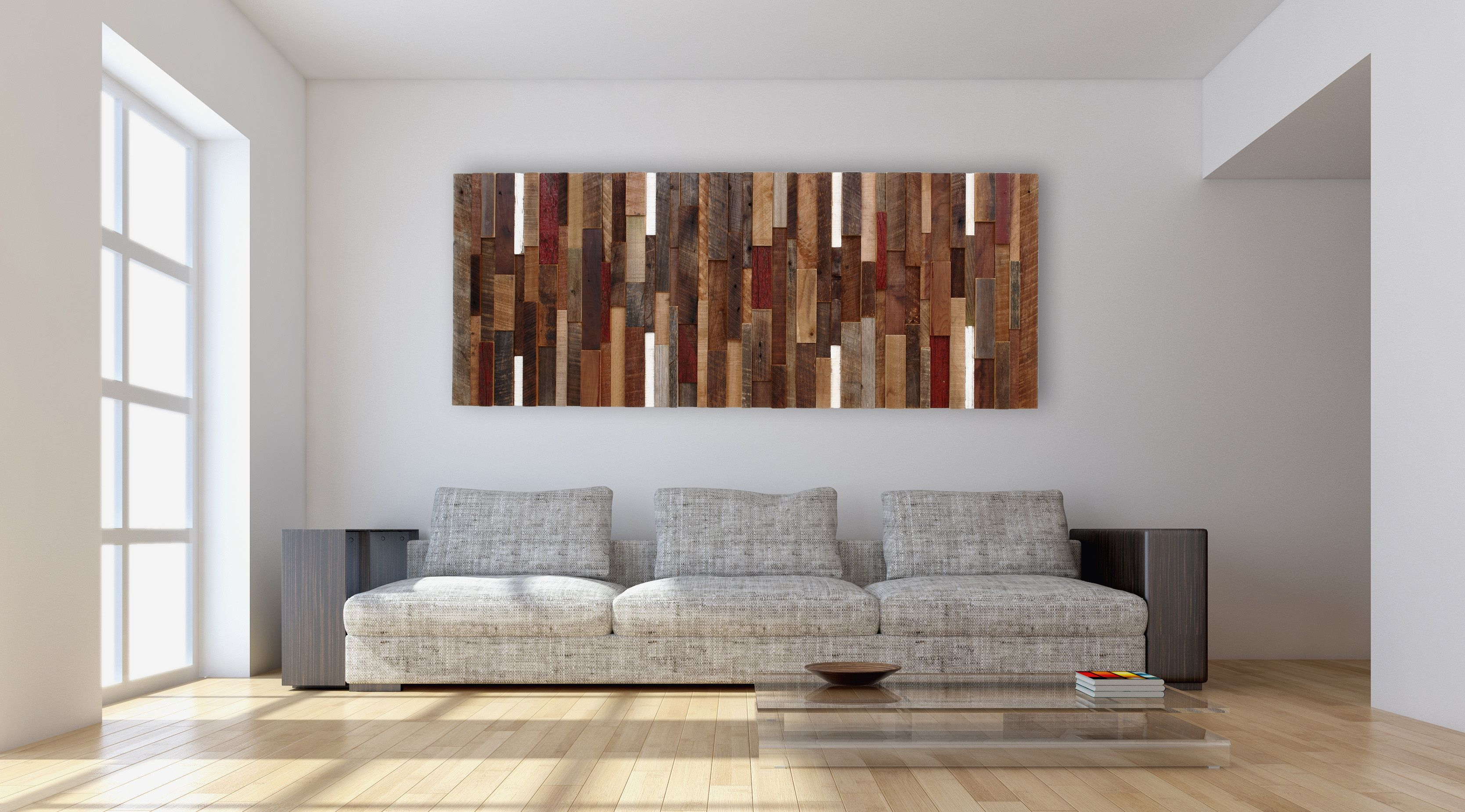 Reclaimed wood wall living room - Custom Made Reclaimed Wood Wall Art Made Intirely Of Reclaimed Barn Wood