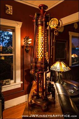 Custom Made Hesterion Wall Sconce: A Hand Made Light Fixture In An Industrial Style