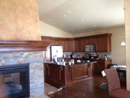 Custom Made Kitchen Crown, Paneling, Corbels, And Mantle