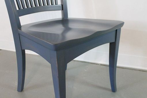 Custom Made Blue American Style Dining Chair