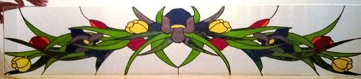 Custom Made Floral Arch/ Stained Glass Transom And Sidelights  (Tw-25)