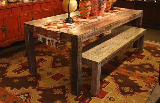 Custom Made Salvaged Old Boat Wood Dining Table