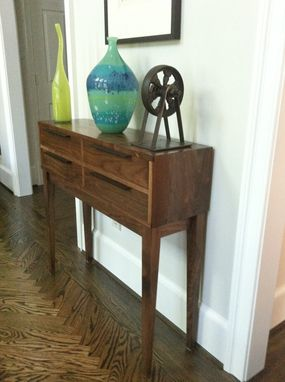 Custom Made 4 Drawer Console Table