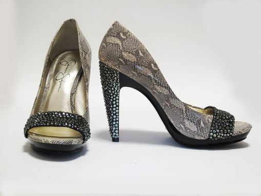 Custom Made Wild Thing Custom Rhinestone Embellished Pumps