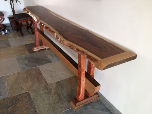 Natural Edge Timber Dining Table: Hand Made Foyer Table By Natural Edge Saw Works