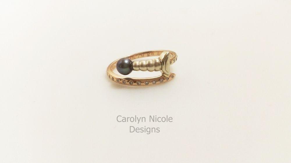 Custom Made Video Sword Engagement Ring