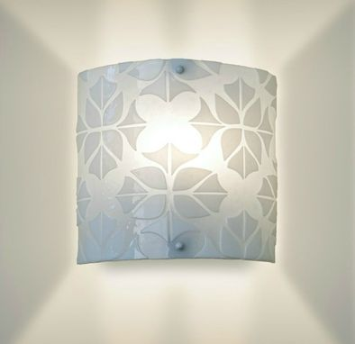 Custom Made Modern Glass Wall Sconce
