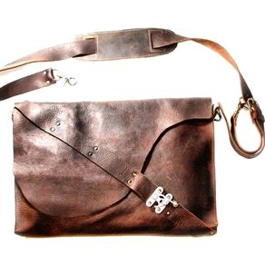 Barcelona Leather Laptop Bag By Victoria R