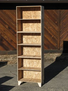 Custom Made Natural Osb Unfinished Modular Bookcases Large