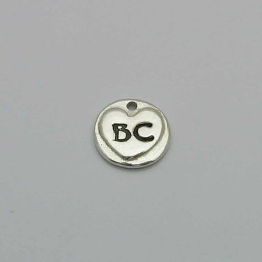 Custom Made Personalized Silver Fingerprint Circle Charm Or Pendant