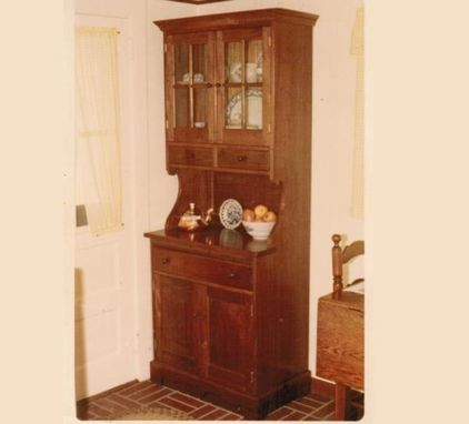 Custom Made Walnut Kitchen Hutch