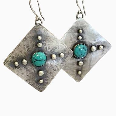 Custom Made Sterling Silver Southwestern Earrings