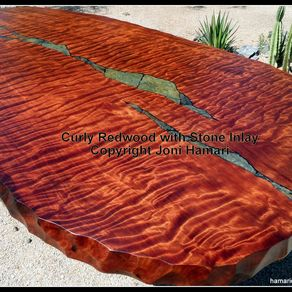 hand crafted live edge wood slab giant sequoia conference or dining table by hamari design. Black Bedroom Furniture Sets. Home Design Ideas