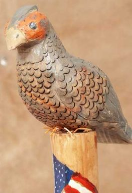 Custom Made Folk Art Walking Sticks - Birds