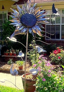 Custom Made Sunflower Garden Sculpture